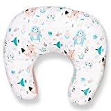PALULLI Cuscino per allattamento, piccolo cuscino per neonati, con rivestimento in 100% cotone, Öko-Tex Made in EU, multifunzione