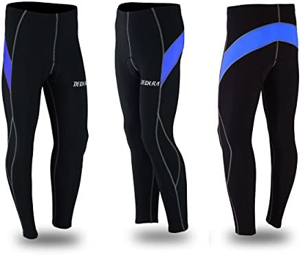Deckra Mens Cycling Pants Padded Tights Leggings Outdoor Thermal Windproof Bicycle Trouser Biking Pants