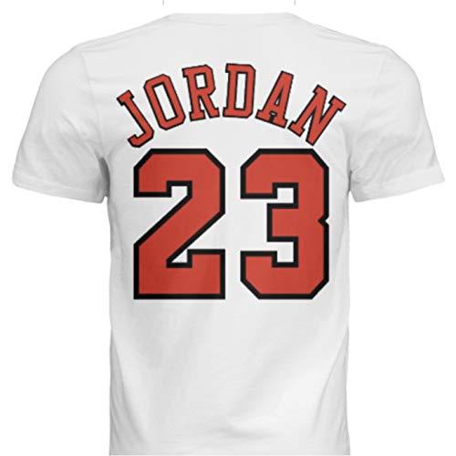 NWT New Jordan #23 Chicago White Custom Screen Printed Basketball T-Shirt Jersey No Brands/Logos Men's (Extra Large)