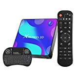 Android 10.0 TV Box, X10 Smart Box with Backlit Wireless Mini Keyboard, 4GB RAM 32GB ROM RK3318 Quad-Core 64bit Cortex-A53 Support 2.4GHz/ 5GHz WiFi 4K UHD Bluetooth 4.0