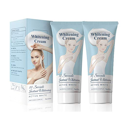 Lightening Cream For Armpit, Knees, Private Areas, Effective Brightens & Nourishes Repairs Body Uneven Tones, 2 PACKS