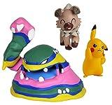 Wicked Cool Toys Pokmon Battle Figure Set 3-Pack, 2' Pikachu, 2' Rockruff, and 3' Alolan Muk