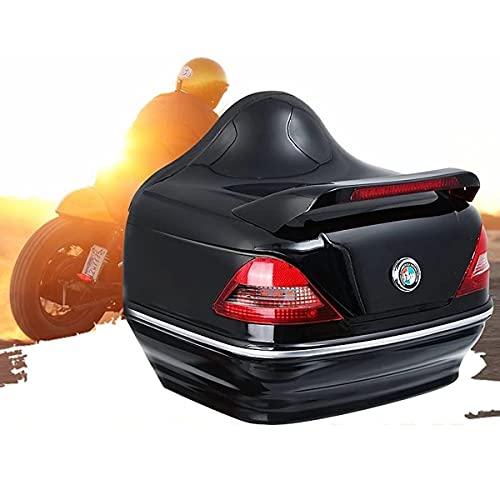 GELEI Baúl Moto Universal Reflexivo Monolock Baúl Scooter Maleta Impermeable Maleta para Motos Impermeable Resistente A La Intemperie 28 L Capacidad
