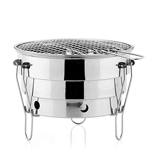 Outdoor Mini BBQ Grill Stainless Steel Folding Charcoal Grill BBQ Portable BBQ Picnic Cooking Tools WTZ012