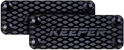Keeper MG Car Tac Gun Magnet - Magnetic Quickdraw Gun Holder Compatible with Glock, Rifle, Handgun, Shotgun, Pistol - Tactical Holster & Mount - Home, Vehicle, Desk, Truck Accessories For Men (2 Pack)