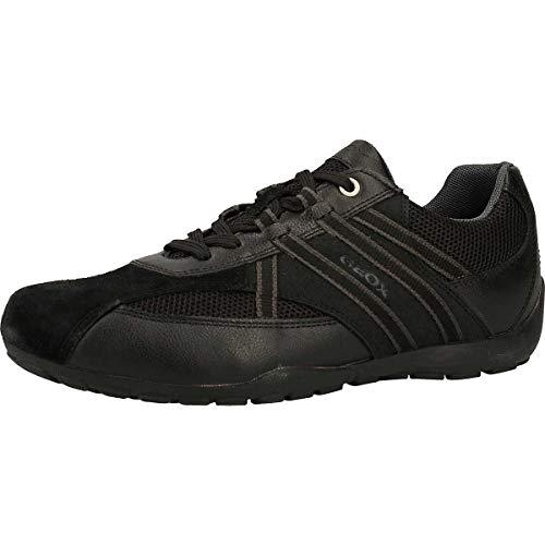 Geox Herren Sneaker Low U Ravex C, Schwarz , 44 EU