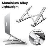 Laptop Stand Adjustable, DOB SECHS Aluminum 6-Levels Height Foldable Portable Laptop Desk Holder