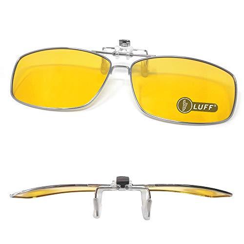 Clip en las gafas de sol polarizadas Mens/womens Flip up polarizado lentes de sol caber sobre gafas graduadas/lectores/deportes al aire libre (Night Vision Clip)