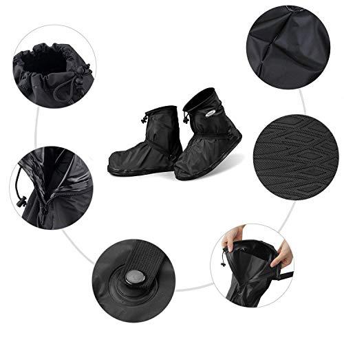 YMTECH Regenüberschuhe Wasserdicht Schuhe 1 Paar, Outdoor Rutschfester Radsportschuhe Überschuhe (38 – 39 EU) - 3