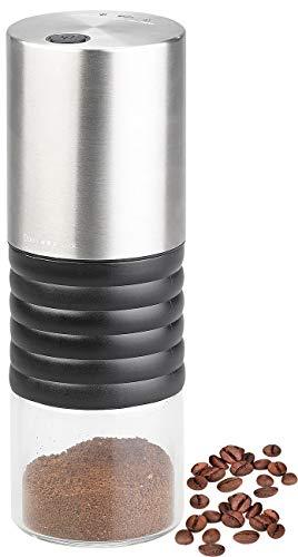 Rosenstein & Söhne Kaffeemühle 12 Volt: Elektrische Akku-Kaffeemühle mit Keramik-Mahlwerk, USB Ladebuchse (12V Kaffeemühle)