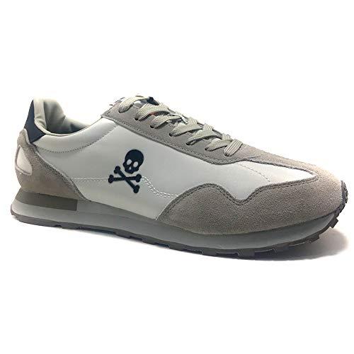 SCALPERS PRAX, Sneakers, para Hombre, Color Blanco - Piel/Textil Talla: 44