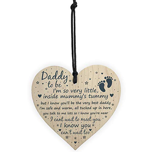 RED OCEAN Daddy To Be Gifts Sign Baby Shower Dad Friendship Gift Wood Heart Party Decoration Baby From Bump Present