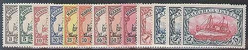Goldhahn Marshall-Inseln Nr. 13-25 - Briefmarken für Sammler