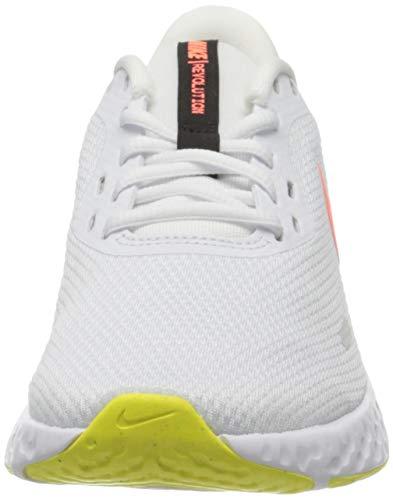 Nike Wmns Revolution 5, Zapatillas para Correr Mujer, White BRT Mango LT Vltge YLW II Black, 37.5 EU