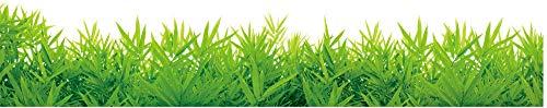 ZRDMN Etiqueta de la pared Hierba verde Bordeando la línea Vitrinas Gabinetes...