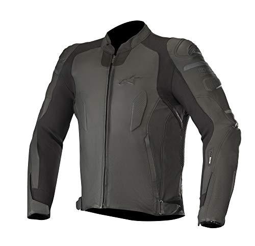 Alpinestars Motorradjacken Caliber Lederjacke schwarz schwarz 46