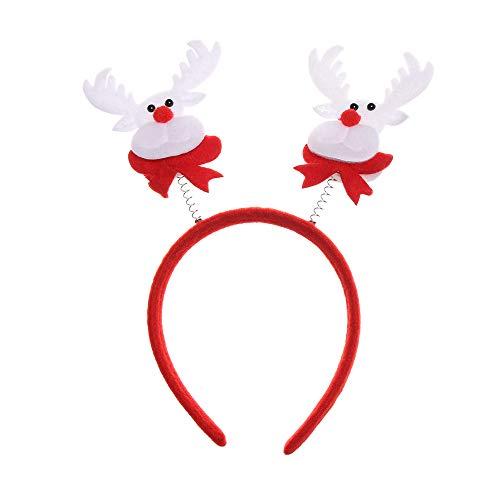 Xuntung Festivals Schleife für Haare Weihnachtsmann Schneemann Christmas Headband Kopfbedeckung mit Verschluss Weihnachten Haarband Party Head Hoop(5-undefined)