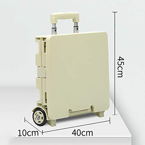 Einkaufstrolleys Mini Klappwagen, 2 Rad multifunktionale Gepäckwagen, Gepäckwagen auf Rädern multifunktionales, leicht verschleißfesten und leichtgewichtigen Material superfeinen (Color : D)