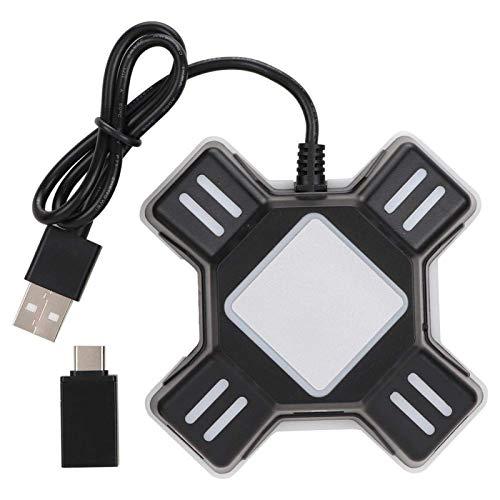 W-HUAJIA Convertidor de Gamepad para PS4 / Switch, Adaptador de Mouse del Teclado para PS4 Pro / PS4 Slim/Xbox One / PS3, Plug and Play, Gaming USB Mouse Teclado Convertidor