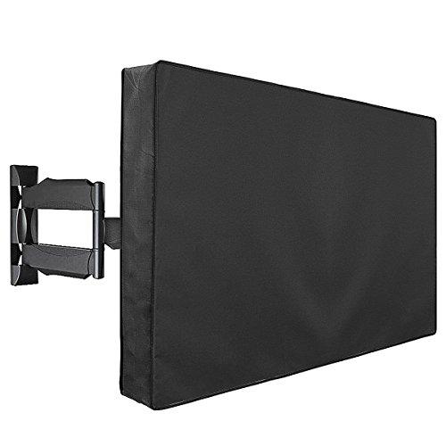 TV Copertura Impermeabile - Outdoor Custodia Copri Universali, Televisione Schermo Esteriore Cover Antipolver per 50  - 52  LED LCD PLASMA Nero