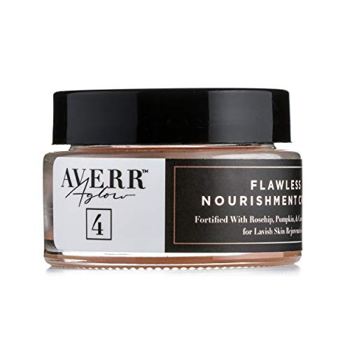 Averr Aglow Flawless Nourishment Cream, Facial Moisturizer Skin Care Cream, Hydrated Oil Balance, Natural Solution, Daily Face Dry Skin Body Treatment