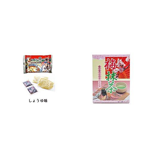 [2点セット] 飛騨高山ラーメン[生麺・スープ付 (しょうゆ味)]・梅抹茶[小](12袋)