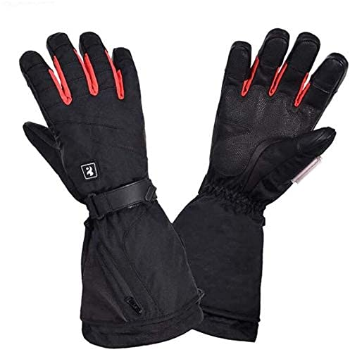 QMJHHW Heated Gloves Electric Heating Gloves, Winter Charging Gloves, Three-Speed Hot Ski Gloves, Wear-Resistant Sports Gloves, Can Be Used for Skiing/Outdoor Sports
