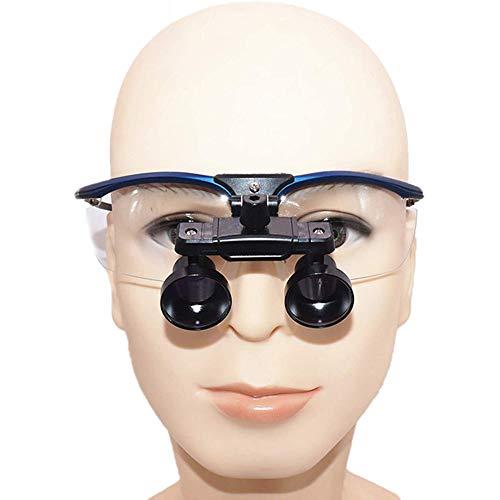 QX Lupa de la Diadema de la Diadema de la Banda de Lupa Binoculares médicos 2.5 x 3 x 3.5 x Vidrio óptico con la lámpara de Faros para el Portador de espectáculos, Lectura, artesanía