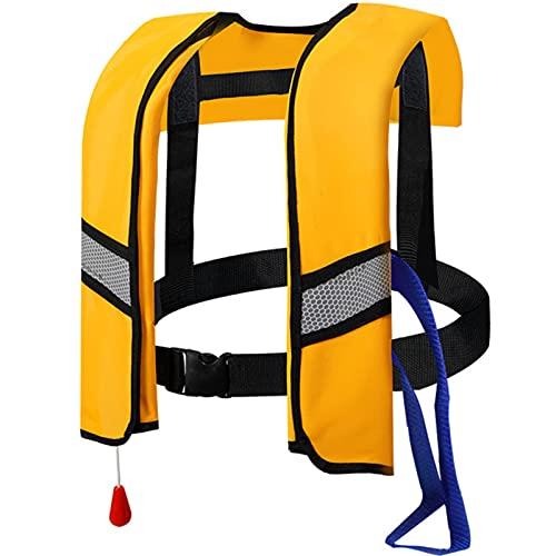 AURALLL Chaleco Salvavidas para Adultos Chaleco Salvavidas de Seguridad Chaleco Salvavidas Inflable por Agua Chaleco Salvavidas para Adultos Deportes acuáticos (El Cilindro de CO2 no está Incluido)
