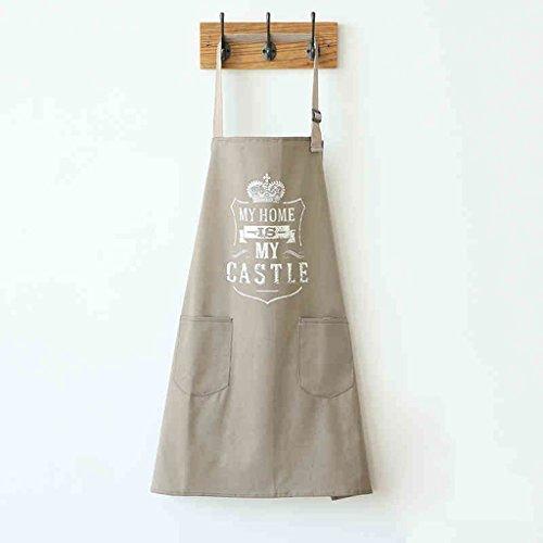 Katoenen schort in Engels drukschort voor mannelijke en vrouwelijke mode keukens