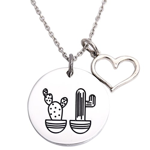 Cactus Necklace We Stick Together Best Friend Necklace Stainless Steel Sister Necklaces