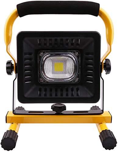 Foco Led Bateria Luz de Trabajo LED portátil Recargable, iluminación Impermeable IP65, luz de inundación al Aire Libre para Acampar de Emergencia Reparación de automóviles de construcción Iluminación
