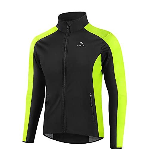 INBIKE Chaqueta de Ciclismo para Hombre con Forro Polar Impermeable Chaqueta Softshell para Otoño Invierno, Deportes al Aire Libre