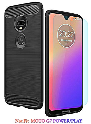 Moto G7 Case/Moto G7 Plus Case with HD Screen Protector Thinkart Frosted Shield Luxury Slim Design for Motorola Moto G7/G7 Plus Phone (Rose Gold1)