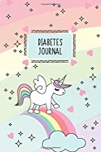 Diabetes Journal: Unicorn, Blood Sugar Logbook, 2 Year Planner, (110 Pages, 6