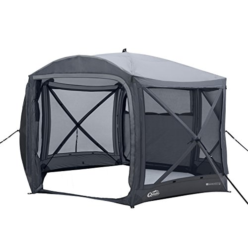 Qeedo Quick Hub 20 Pop Up Pavillon (380 x 380 cm), Pavillon Camping, Event Shelter & Vorzelt wasserdicht