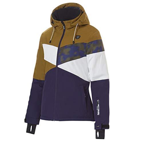 Rehall Damen Skijacke Lisah Jacket Dessert braun/blau/Weiss - XL
