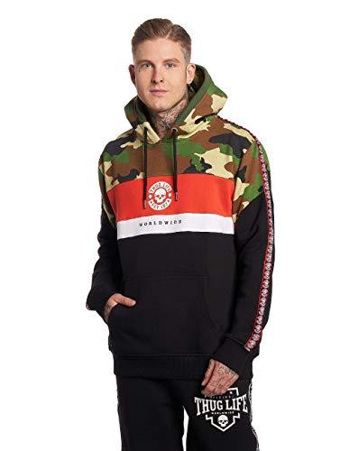 Thug Life Tiger Herren Hoodie Schwarz