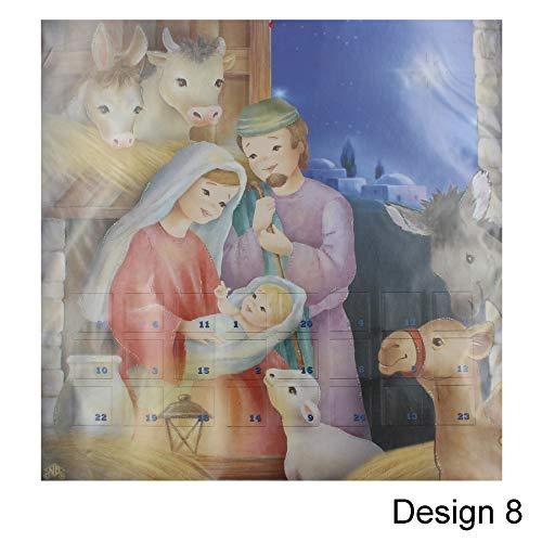 Widdle wonderland Kerstmis Countdown Adventskalender Geboorte - 24 ramen - Ontwerp 8 8480