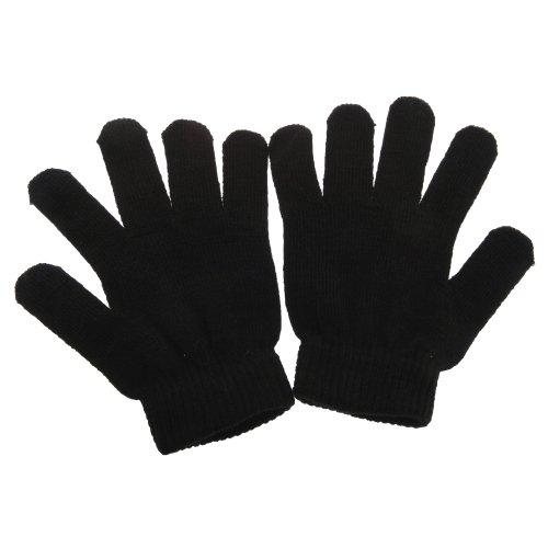 Gants thermiques avec élasthanne - Homme (Taille unique) (Noir)