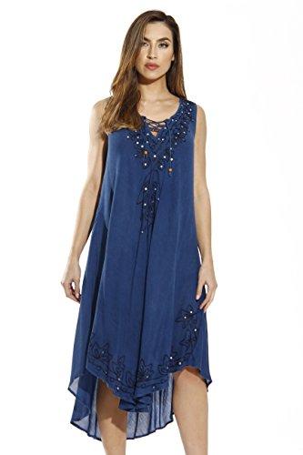 Riviera Sun 21602-MEDDENIM-3X Dress/Dresses for Women