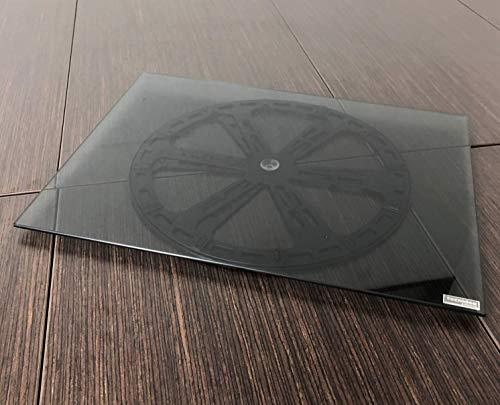Tecnidea Base giratoria para TV y PC, de cristal templado, color negro ahumado, dimensiones 44 x 33 cm, -GK44N