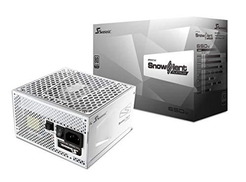 Seasonic Prime 650 Snow Silent - Fuente de alimentación, Color Blanco