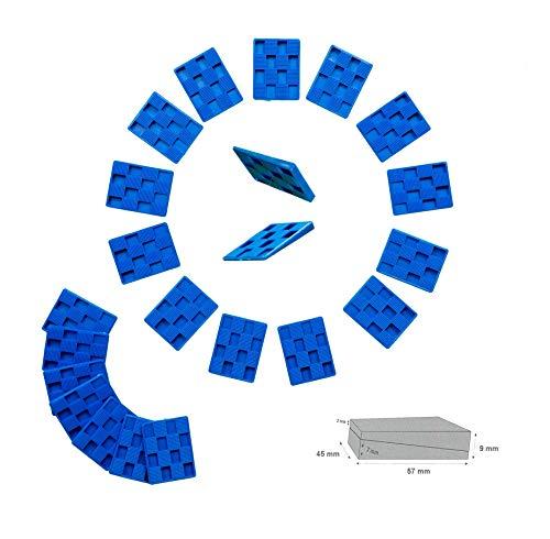 Montagewiggen voor parket, tegels en nog veel meer. ❉ 20 stuks │ 5,7 x 4,5 cm │ Legewei │ Kunststof wig │ afstandswig │ by FD-Workstuff