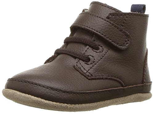 Robeez Boys Boot Crib Shoe, Nick Espresso, 3-6 Months M US Infant