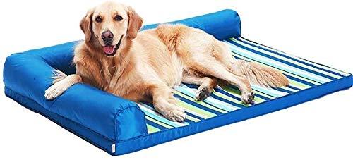 FLL Dog Bed, Hondenmand Oxford/polyester mix/Memory Foam/Waterdicht/Zelf Opwarmen/AdemenMakkelijk te reinigen/anti-traan cover, 120×90cm, 120×90cm