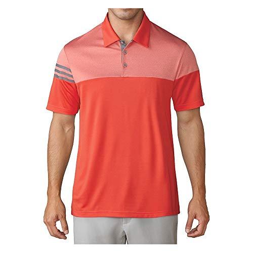 adidas Polo de Golf 3 Bandes Heather Block pour Homme XL Orange (Blaze)