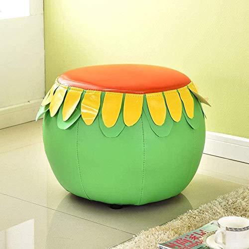 XYUN Mode Mooie Creatieve Fruit Lederen Kruk Jonge Kinderstoel Kinderkamer Rugleuning Cartoon Kind Sofa Kruk Huishoudelijke Wijziging Schoen Bench Lage Kruk