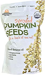 Harvested for You Sprouted Pumpkin Seeds with Sea Salt - 22 oz.