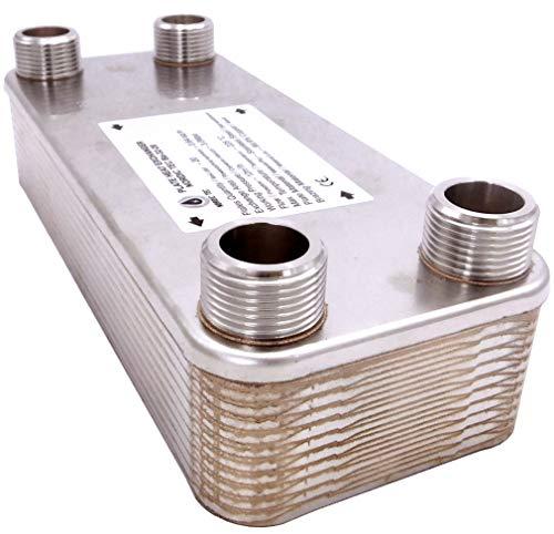 """Edelstahl Wärmetauscher Plattenwärmetauscher NORDIC TEC Ba-32-20, 125kW, 20 platten, 1"""""""